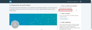 personalizar a URL no LinkedIn